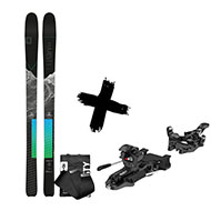 Narty Majesty Superwolf Carbon + Foki Majesty Hybrid Skins Sigma + Wiązania ATK x Majesty R12 Black 330G 86-120mm 2021 2021
