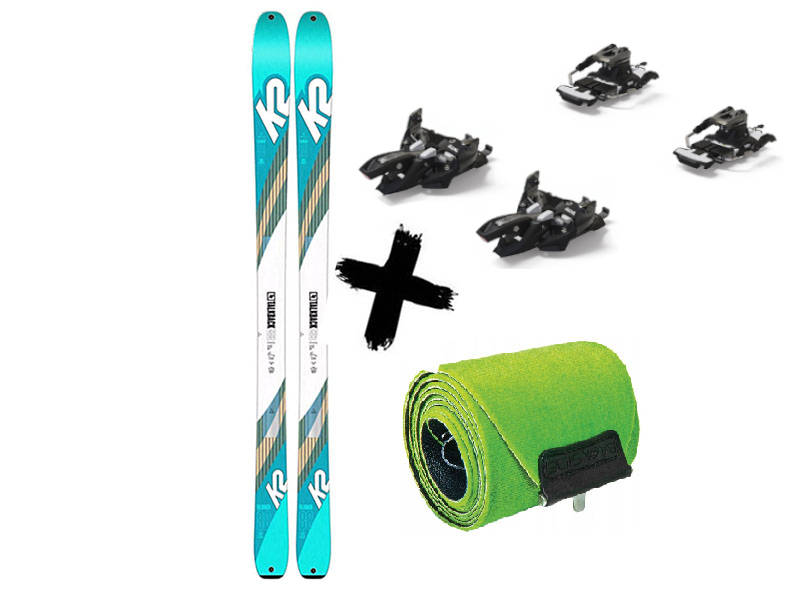 Foki / TALKBACK 2020 9 WAYBACK 2021 + Travel 2021 Marker 88 Narty Long Alpinist Wiązania 88 K2 skiturowe K2 + Talkback