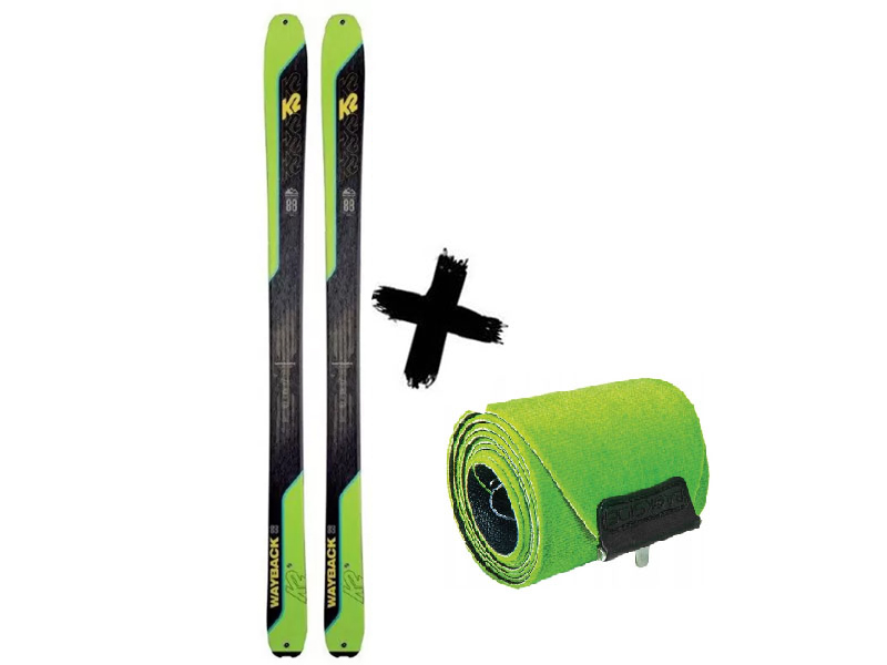 TALKBACK 2021 K2 + 2021 88 skiturowe Wayback Foki Narty K2 WAYBACK 88 /