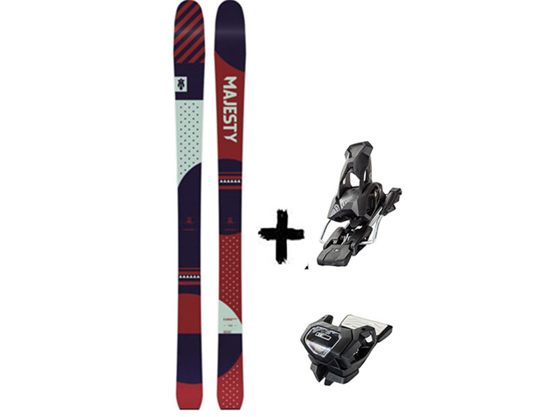 + Tyrolia Black Attack Adventure GT 2021 Narty 13 Majesty Wiązania W Solid 2021 GW